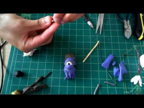 how to make evil minion doll using clay