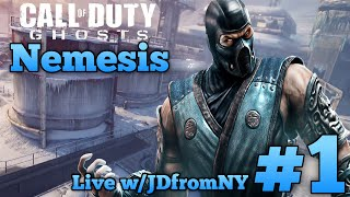 "COD Ghosts ""Nemesis DLC"" Live ""Sub Zero"" Multiplayer Gameplay #1 