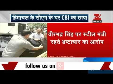 CBI officials search Himachal CM Virbhadra Singh's residence