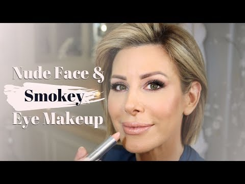 Nude Face and Smokey Eye Makeup Tutorial | Dominique Sachse