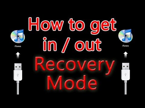 How To: Get in and out of Recovery Mode - iPhone iPad iPod
