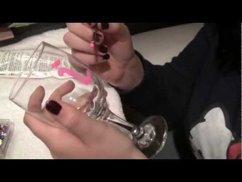 DIY Decorate your own wine glass!