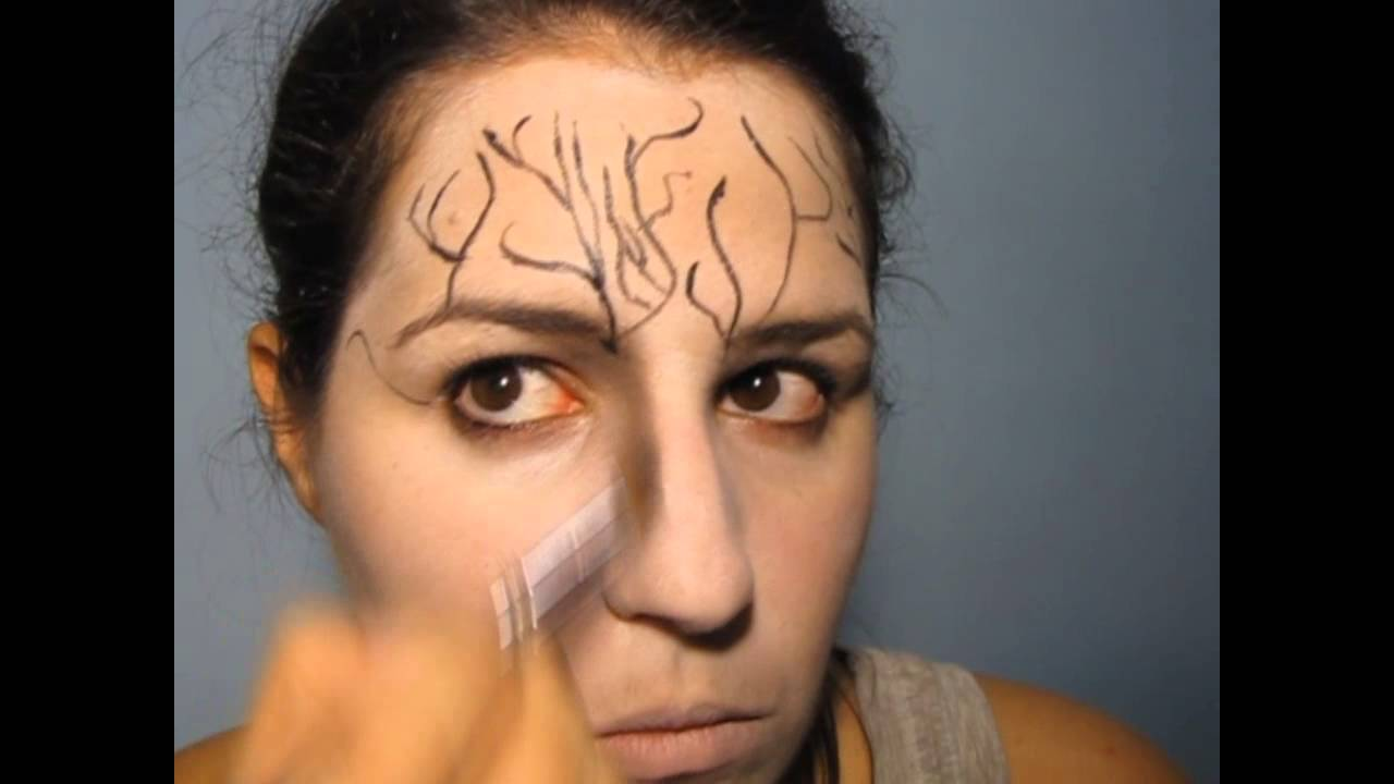 Halloween Makeup Tree Woman