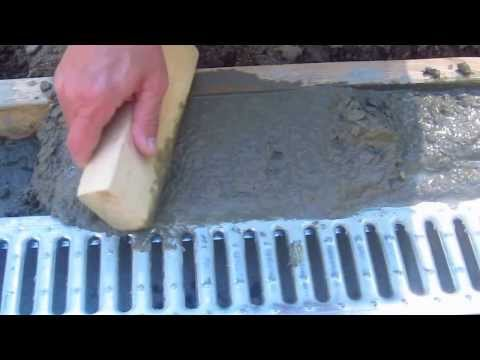 Install a Trench Drain Video 6 of 7