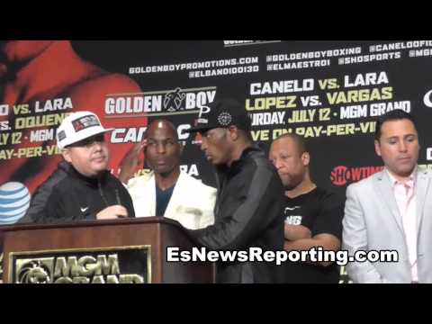 erislandy lara goes off on canelo at post fight press conference EsNews