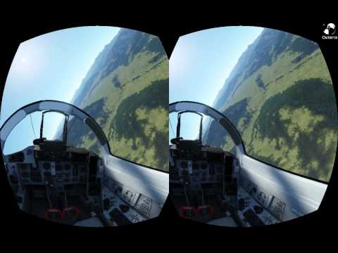 Outerra + Oculus Rift Test 2 - MiG 29 flight
