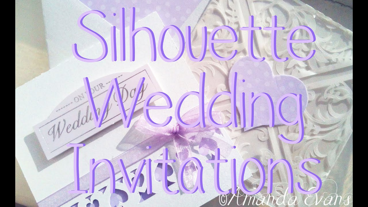 Silhouette Wedding Invitations - YouTube