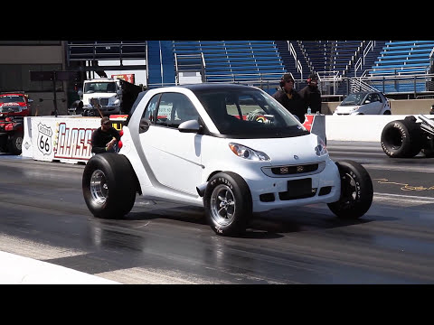 WILD '09 BIG BLOCK CHEVY POWERED SMART CAR AT RT66 4-26-14