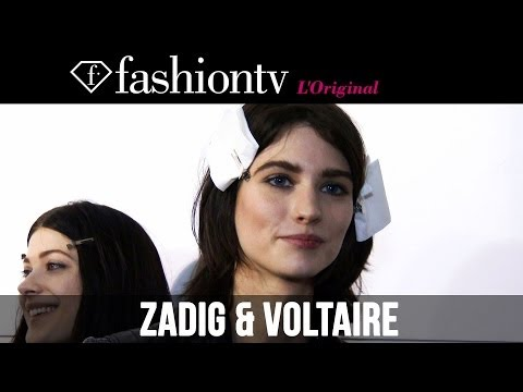 Zadig & Voltaire Fall/Winter 2014-15 Hair & Makeup | Paris Fashion Week PFW | FashionTV