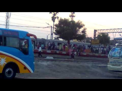 Indian Local Train Come In Platform video