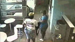 Security Cameras Show McDonalds Employee PUNCHING MOM IN THE FACE!!!!