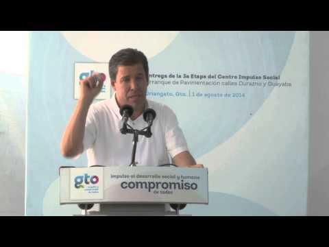 01 Agosto, Entrega 3a  etapa Centro Impulso Social en Uriangato, Gto.