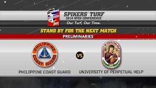 Spikers ' Turf 2019 Open Conference Philippine Coast Guard vs University Of Perpetual Help