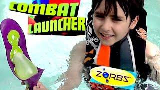 Zorbz' Combat Luncher with William Haik! - Water Balloon Launcher