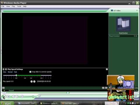 Speed Up & Slow Down Video/Audio Using Windows Media Player