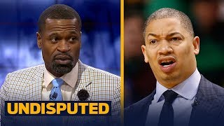Stephen Jackson disagrees with Ty Lue announcing his plan for Game 3 vs Warriors | NBA | UNDISPUTED