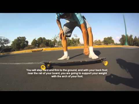 Longboarding: Trick tip-No comply 180 slide+SUBTITLES