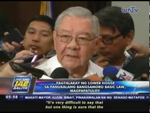 Pagtalakay ng lower house sa panukalang Bangsamoro Basic Law, magpapatuloy
