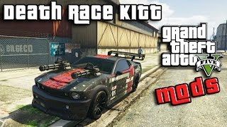 GTA 5 PC Mods - DEATH RACE KITT - KNIGHT RIDER - GTA 5 MODS GAMEPLAY ITA