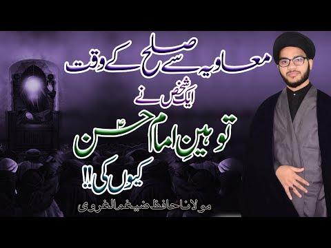 Muavia Sy Sulah Ky Waqt Aik Shakhs Ny Tauheen-E-Imam Hassan ki | H.I Hafiz Zaigham-Al-Gharavi | 4K