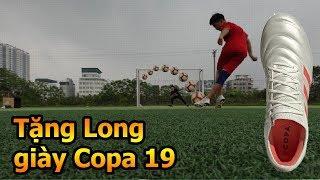 Thử Thách Bóng Đá sút Rabona như Ronaldo với giày Copa của Bùi Tiến Dũng U23 Việt Nam DKP tặng Long