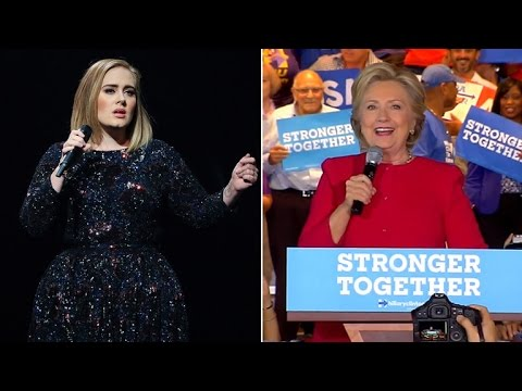 Hillary Clinton Makes Surprise Appearance at Adele Concert For Singer's Endorsement