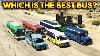 GTA 5 ONLINE : WHICH IS THE BEST BUS? (All buses comparison)