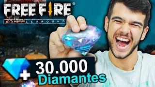 GASTEI 30 MIL DIAMANTES NO FREE FIRE E COMPREI TUDO!!