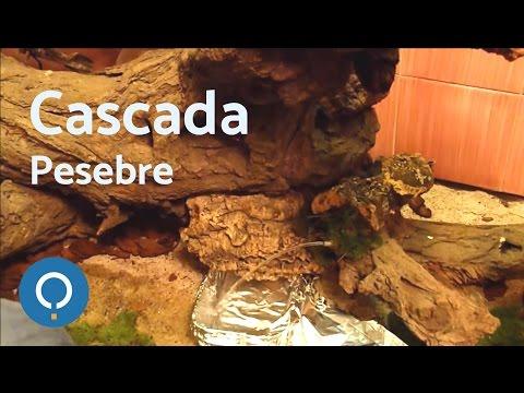 Cómo hacer una cascada real para el pesebre - Real waterfall for the manger