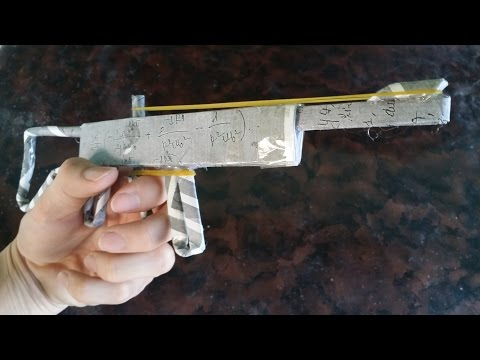 วิธีที่จะทำให้ปืนกระดาษที่เรียบง่าย | ยางปืนวง