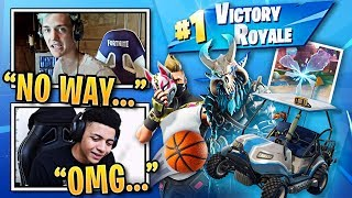 Streamers REACT to *NEW* Season 5 Skins, Golf Carts, Dances, Toys & Map! | FORTNITE BEST MOMENTS