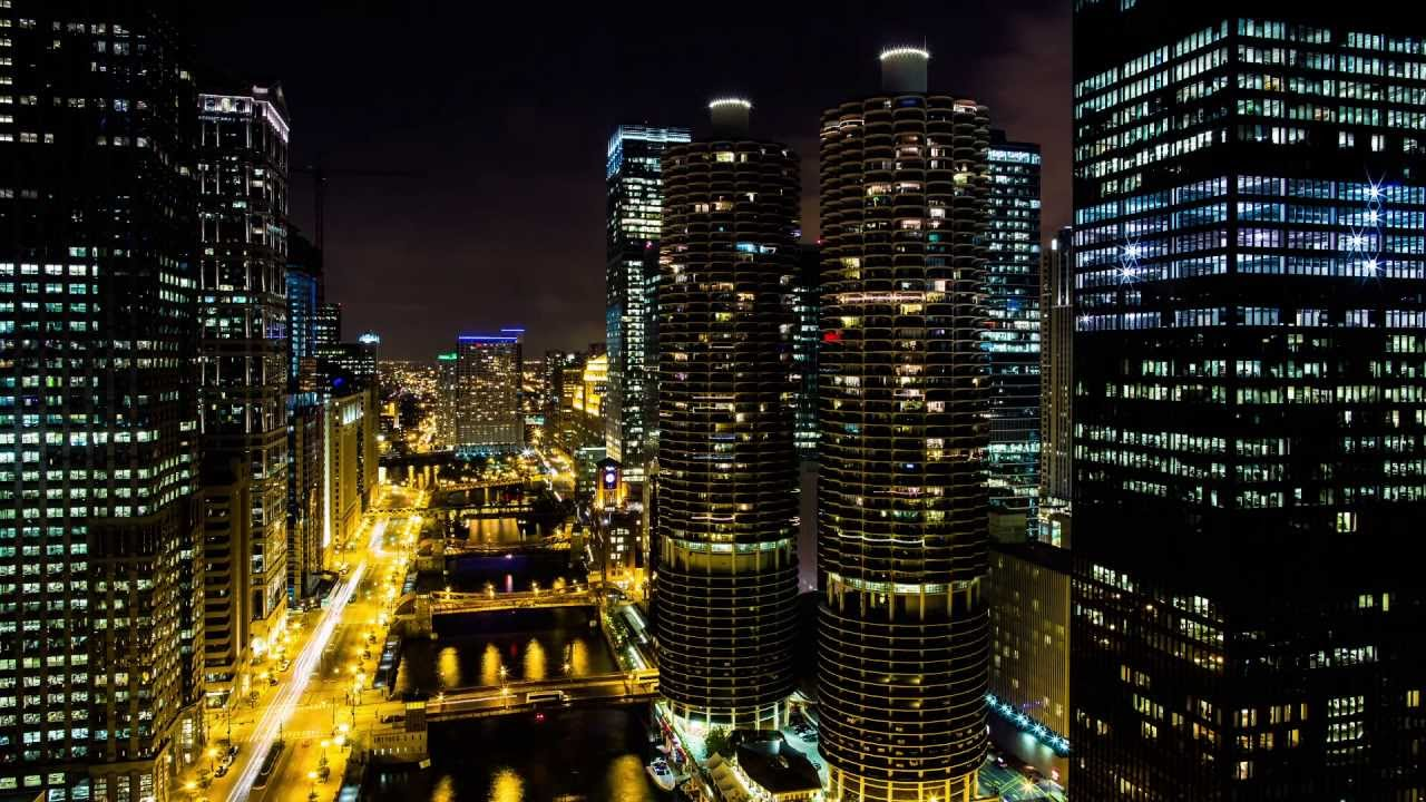 Downtown Chicago River View From The Wyndham Grand Chicago