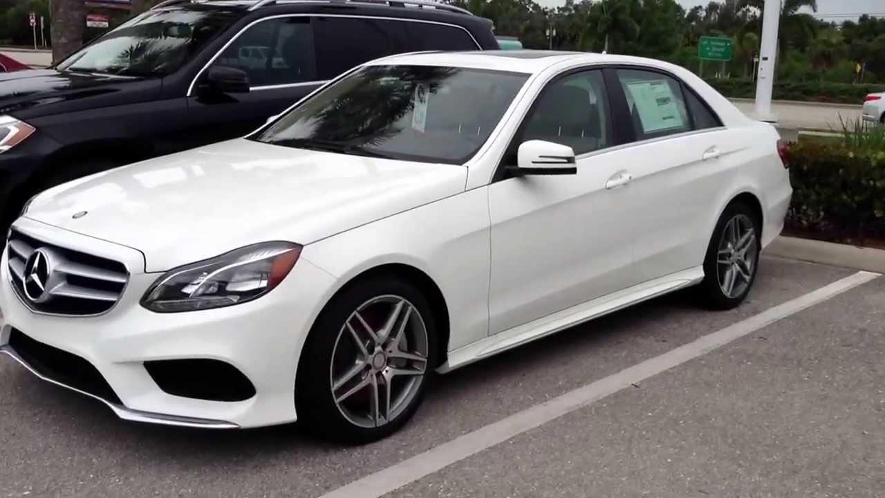 White Mercedes Benz E Sedan