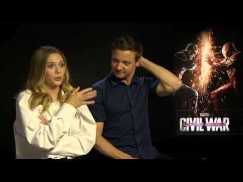 Elizabeth Olsen and Jeremy Renner talk Captain America: Civil War