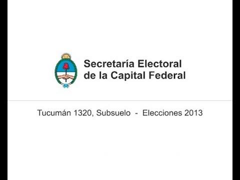 Elecciones 2013   Spot de la Secretar�a Electoral de la Capital Federal