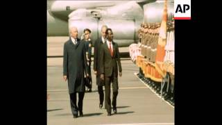 SYND 5 5 77 LEADER OF MILITARY COUNCIL FOR ETHIOPIA MEETS SOVIET LEADERS