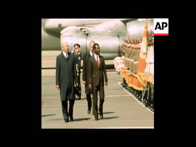 LEADER OF MILITARY COUNCIL FOR ETHIOPIA MEETS SOVIET LEADERS