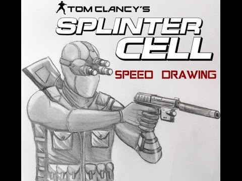 Sam Fisher from Splinter Cell speed drawing
