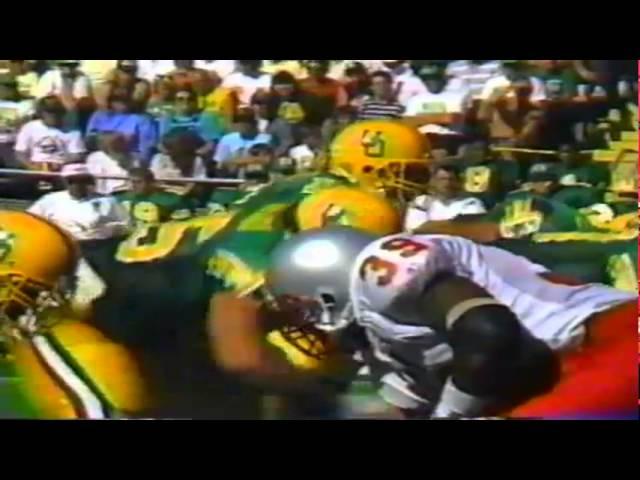 Oregon RB Sean Burwell 28 yard touchdown run vs. UNLV 9-26-1992