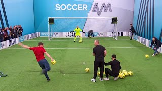 How many volleys can the Liverpool fans score in 60 seconds?!  Soccer AM Volley Challenge