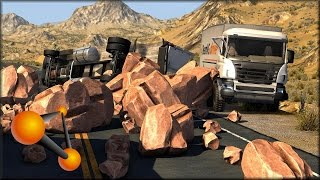 BeamNG Drive Rock Slides #1