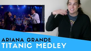 Voice Teacher Reacts to Soundtrack to 'Titanic' w/ Ariana Grande & James Corden