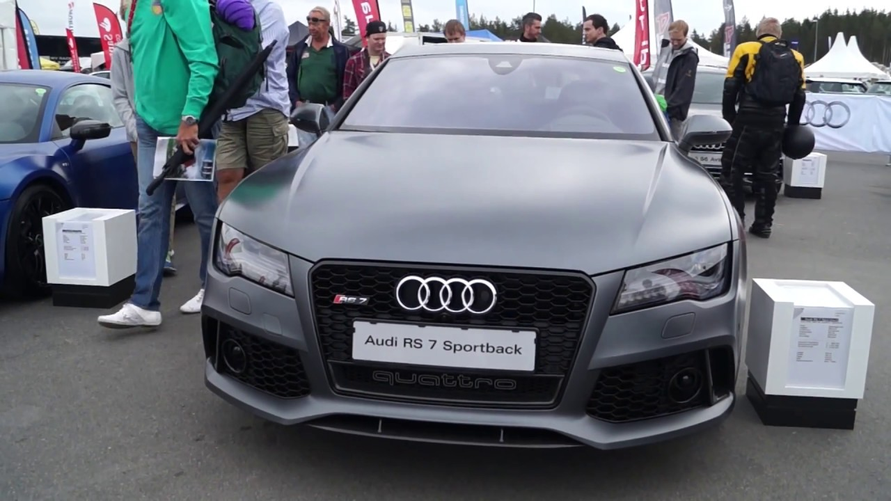 2014 Audi Rs7 Sportback Matte Dark Grey Youtube