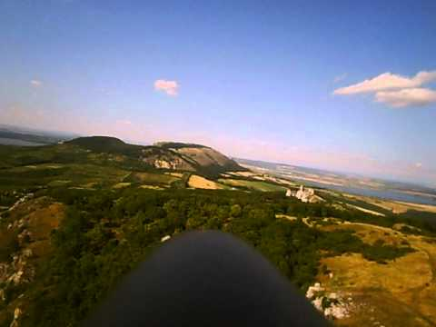 Svahování s RC větroněm na Stolové hoře - onboard
