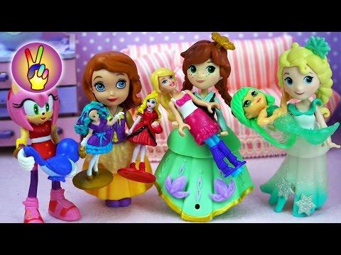 Мультик игрушки Супергерои. Анна Холодное Сердце украла Барби у Эми из Соник Бум. Victoria Play