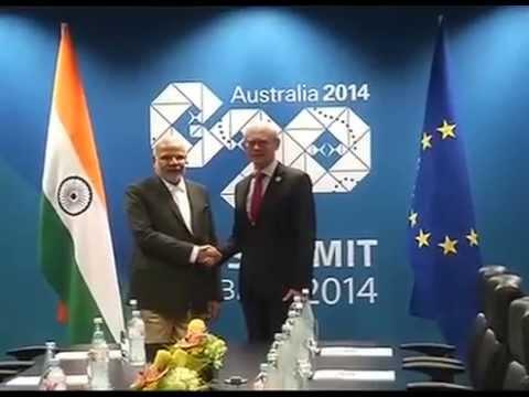 PM in Australia: Modi meets EU leaders