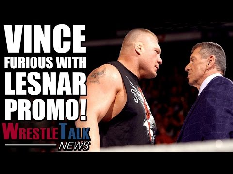 Vince McMahon Furious With Brock Lesnar RAW Promo! | WrestleTalk News