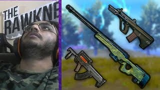 AWM, AUG, GROZA, FLARE GUN IN THE SAME GAME   PUBG MOBILE HIGHLIGHT