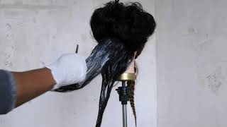 CAN YOU PUT  HAIR RELAXER ON HUMAN HAIR WIG?