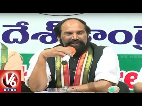 TPCC Chief Uttam Kumar Reddy Slams PM Modi, Press Meet Over Rafale Aircraft Scam | V6 News